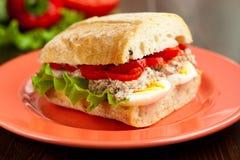 Sandwich mit Thunfisch Stockfotos