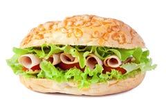 Sandwich mit Truthahnschinken lizenzfreie stockbilder