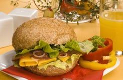 Sandwich mit Wurst Lizenzfreie Stockbilder
