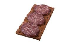 Sandwich mit Wurst Stockfoto