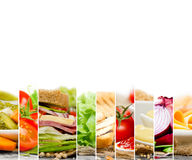 Sandwich Mix Slices Stock Photos