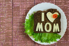 Sandwich for Mom Royalty Free Stock Photo