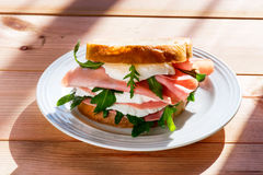 Sandwich in morning light Royalty Free Stock Images