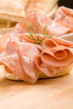 Sandwich with Mortadella Stock Image