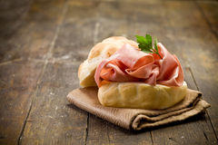 Sandwich with Mortadella Sausage Royalty Free Stock Photography