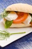 Sandwich à mozzarella de Tomatoe Images libres de droits