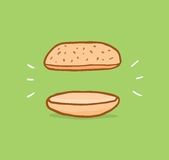 Sandwich of nothing or really strict diet Stock Photography