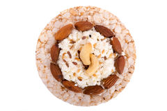 Sandwich with nuts Stock Image
