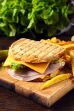 Sandwich oardon wooden b Royalty Free Stock Photo