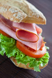Sandwich Of Ham Lettuce And Tomato Royalty Free Stock Photo