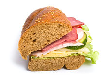Free Sandwich On White Background Stock Photography - 7624322