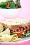 Sandwich onpink Royalty Free Stock Photos