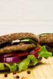 Sandwich op een lijst Stock Fotografie