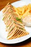 Sandwich op een Plaat Royalty-vrije Stock Afbeeldingen