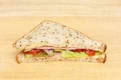 Sandwich op een raad Stock Foto