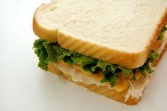 Sandwich op Wit Royalty-vrije Stock Afbeelding