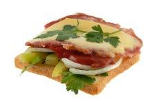 Sandwich op wit Royalty-vrije Stock Fotografie