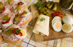 Sandwich ouvert Photos stock