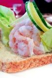 Sandwich ouvert Images libres de droits