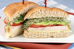 Sandwich  with oven roasted turkey Stock Photography