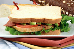 Sandwich  with oven roasted turkey Stock Photo