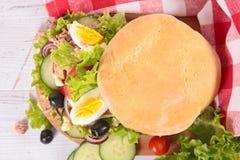 Sandwich, pagnat de casserole photo stock