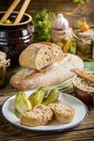 Sandwich in the pantry from the winter stocks Royalty Free Stock Images