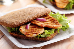 Sandwich on a paper tray Stock Photo