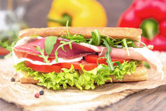 Sandwich with parma Royalty Free Stock Photos