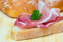 Sandwich with parma ham Royalty Free Stock Photos