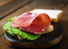 Sandwich with Parma ham Stock Photo