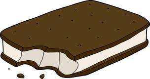 Sandwich partiel à crème glacée  illustration stock