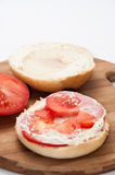 Sandwich with pasta and fresh tomatoes Stock Photos