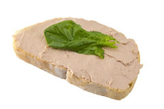 Sandwich with pate Stock Images