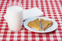 Sandwich with peanut butter Stock Images