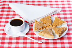 Sandwich with peanut butter Royalty Free Stock Photography
