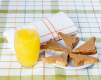 Sandwich with peanut butter Stock Image