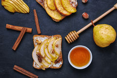 Sandwich with pear Royalty Free Stock Photos