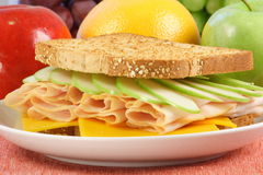 Sandwich picnic meal. Quick meal perfect for busy  people balanced and nutritious Stock Photo