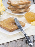 Sandwich with Pineapple Jam Stock Images
