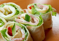 Sandwich pita bread roll with cheese Stock Photography