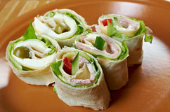 Sandwich pita bread roll with cheese Royalty Free Stock Photo