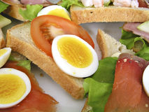 Sandwich plate. Plate withh sandwiches stock photography