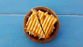Sandwich on plate Stock Photography