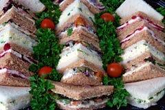 Sandwich Platter. A business sandwich platter brown and white bread stock photo