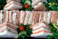 Sandwich Platter Royalty Free Stock Images