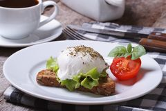 Sandwich with poached egg and tomato Stock Photography