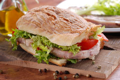 Sandwich with pork Stock Photo