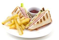 Sandwich with potato Stock Photography