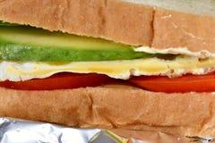 Sandwich pour le petit déjeuner, un choix sain pour la bonne vie pour toutes les personnes photographie stock